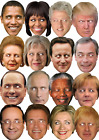Adults Political World Lead President Brexit Fancy Dress Costume Outfit Mask