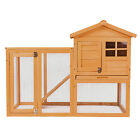 Wooden Rabbit Guinea Hutch Hen House Small Animal Pet Cage Chicken Coop w/Run