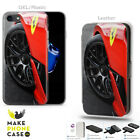 Ferrari Sport Car Auto Rally Drift Case Cover For iPhone 4 5 6 7 8 X Xr Leather
