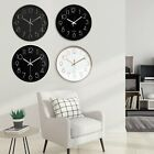"Large 12"" Modern Silent Non-ticking Analogue Round Atomic Wall Clock Quartz"
