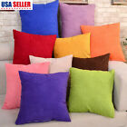 "Solid Color Square Home Sofa Decor Pillow Cover Case Cushion Cover 18""x18"" image"