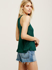 New Free People Womens Exclusive La Nite Racerback Basic Tank Top Cami Green $20