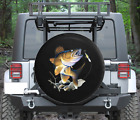 Spare Tire Cover Jumping Fish Biting on Fishing Lure Wrangler RV