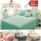 "Fitted Bed Sheet With Velvet Diamond Quilted Microfiber Filling And 18"" Drop image"