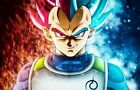 Dragon Ball Super Poster Vegeta SSJ God Blue Evolved DBZ - NEW - 11x17 13x19