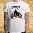 Nazareth Hair of The Dog Album Logo Men's White T-Shirt Size S M L XL 2XL 3XL image