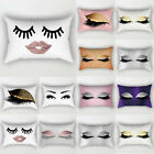 Eyelash Lash Pillow Sofa Waist Throw Cushion Cover Home Decor Cushion Cover Case image