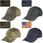 Condor Outdoor Tactical Mesh Cap with PVC U.S. Flag Morale Patch Bundle