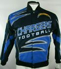 Los Angeles Chargers NFL Team Apparel Men's Blue Cotton Twill Snap Jacket S $99.99 USD on eBay