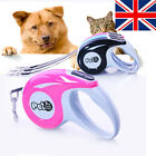 3M/5M Dog Pets Lead Leashes Strong Retractable Extendable Lockable Tape Leads