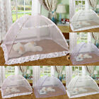 Newborn Infant Kids Baby Folding Crib Canopy Mosquito Net Bed Cot Tent Netting image