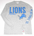 Detroit Lions T-Shirt Long Sleeve Men's size Medium LG or XL, Gray, New w/Tag $25.99 USD on eBay