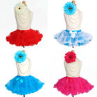 Ruffles TUTU SKIRT Toddler Girls Princess Pageant Birthday Party Costume SALE