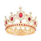 Luxury 5 Colors Crystal Large King Queen Crown Wedding Prom Party Pageant