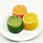 2/3/5pcs Artificial Lemon Slices Lifelike Plastic Fake Fruit Home Decor Props