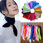 Women Fashion Soft Silk Square Scarf Bandana Neckerchief Head Neck Wrap Scarves