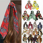 DIY Bow Streamers Elastic Hair Scrunchie Knotted Ribbon Ponytail Scarf Hair Ties