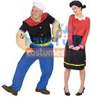 Couples Costumes Popeye and Olive Oyl Adult Husband Wife Funny Halloween