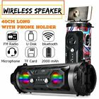USA LED Wireless Portable bluetooth Speaker Stereo Super Bass HIFI AUX FM Radio