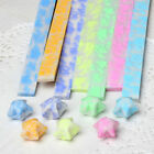 210Pcs Origami Lucky Star Paper Strips Chic Luminous Folding Paper Ribbons Craft
