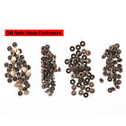 200 Metal Poppers Snap Fastener Press Stud Cap Sewing Craft Clothes Buttons 10mm