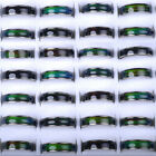 10/30/50pc Wholesale Mixed Lot Change Color Silver Plated Mood Ring Bulk Jewelry image