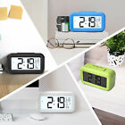 LED Digital Snooze Alarm Clock Thermometer Auto Backlight Calendar LCD Screen
