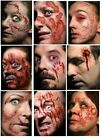Adults Realistic Wounds Scars Gore Blood Special FX Halloween Tattoo Transfers