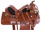 16 Western Leather Saddle Trail Ranch Cowboy Premium Horse Tack Set 17 18