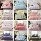 Printing Bedroom Duvet Fitted Sheet Pillowcase Cover Cotton 3 Piece Bedding Sets