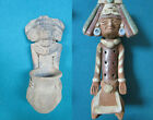 MAYAN AZTEC PRAYING PRIEST RED CLAY FIGURINE PICK ONE