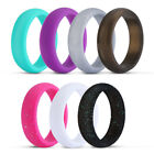 7Pcs Silicone Wedding Ring Rubber Band Women Men Sport Outdoor Flexible Workout