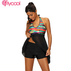 Plus Size Halter Tankini Sets Swimwear Bikini Push Up Padded Swimsuit Beachwear