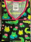 SCRUB TOP SIZES: XS, S, M, L, XL FROG GATOR SWAMP ROMP NWT NURSE MEDICAL VET CNA