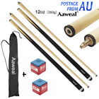 "58"" WOODEN POOL SNOOKER BILLIARD CUE SET Cues with Screw Tips Stick $27.95 AUD on eBay"