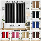 Ring Top Thermal Insulated Blackout Small Window Curtain For Bedroom Kitchen New