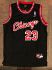 1984 Rookie Michael Jordan Chicago Bulls Black Vintage Throwback Swingman Jersey