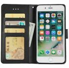 For Apple iPhone 7 8 Plus X XMAX Flip Wallet Case Protective Stand Pouch Cover