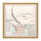 Map Antique Arcos 1797 Plan Royal Walls Ceuta Replica Square Framed Wall Art