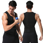 Men Sport Neoprene Sauna Sweat Black Vest Sliming Body Shaper Shirt Tank Tops US
