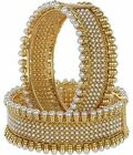 Indian Traditional Bollywood Gold Plated Ethnic Designer Pearl Classic Bangles