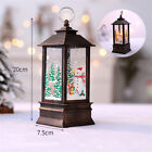 Retro Christmas Candle Ornaments Lantern Hanging Candlestick Party Decor Props