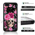 Skull Flowers Phone Case Rose Horror Day Of The Dead For iPhone Samsung Cover XS