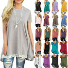 Womens Summer Tunic Sleeveless Casual Blouse T Shirts Vest Tank Tops Plus Size