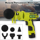 Percussion Massage Gun Handheld Muscle Vibrating Relaxing Machine with 6 Tips