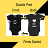 Baby Suit Double side Text Idea graphic design birthday,events, party, onesis