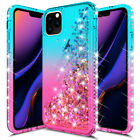 For Apple iPhone 11 Pro Xs Max Xr X Crystal Slim Bling Liquid Glitter Case Cover