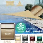 9.8' 11.8' Sun Shade Sail Triangle Top Canopy Awning Pool Shelter 98% UV Block