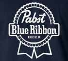 PABST BLUE RIBBON T-Shirt Milwakee Beer Logo College Frat Drinks Party S-6XL Tee image