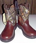 Back to School Toddler Realtrere Camouflage Mossy Oak  Boots  sz 5,6 &10